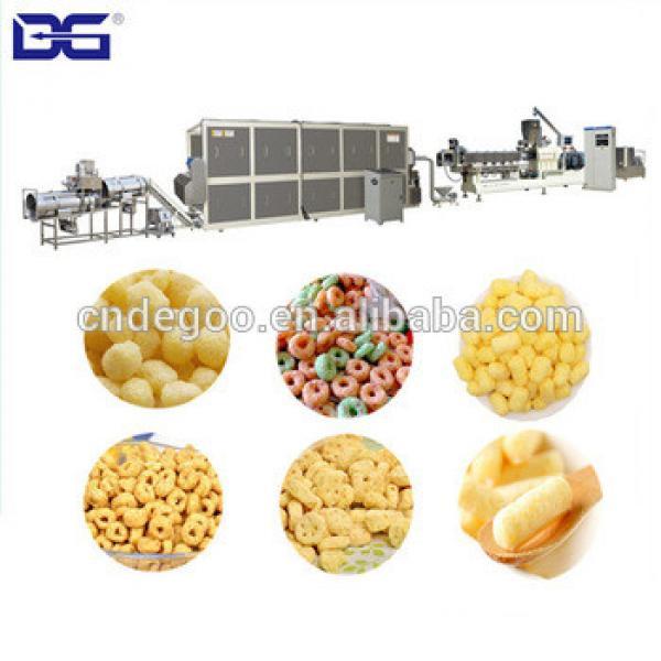 Stailnless steel koko crunch cheerios machine breakfast cereal double screw extruder