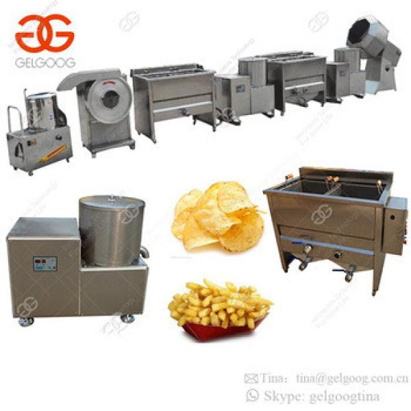 Hot Sale Automatic Potato Chips Making Machine Frozen French Fries Processing Plant Price