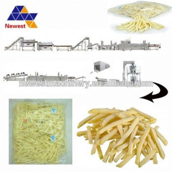 Best quality frozen french fries processing equipment/frozen potato chips making machine