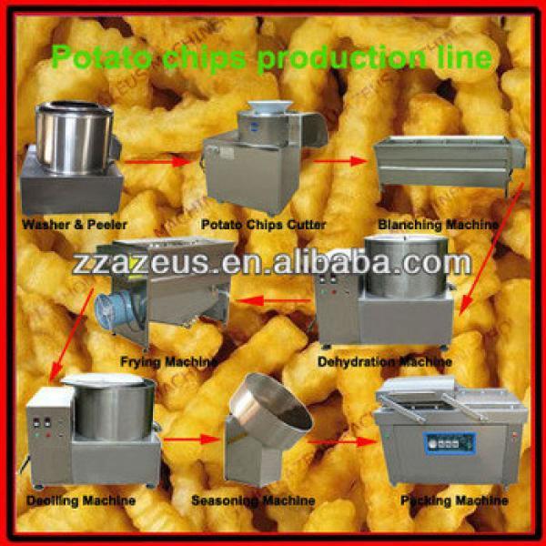 potato chips production machine/fried potato chips machine/small scale potato chips making machine