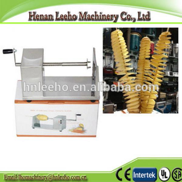 hot sale manual spiral potato tower making machine . potato chips cutter