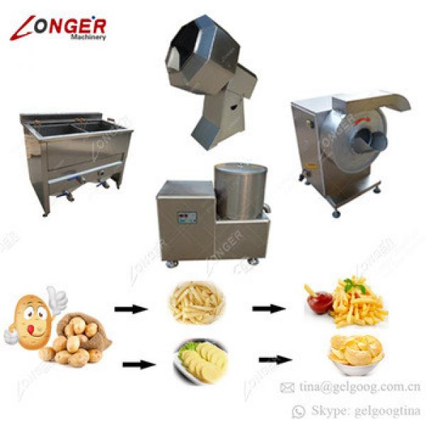 100kg/h Frozen Potato Production Line French Fries Making Machines To Make Potato Chips