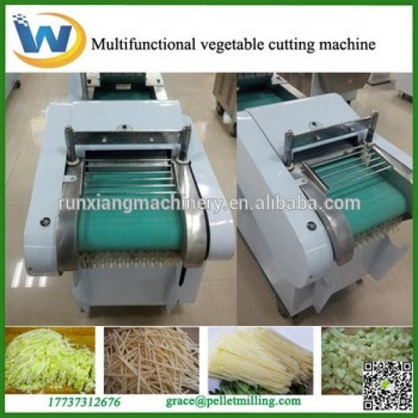 Commercial vegetable cutting machine for making vegetable dices slices