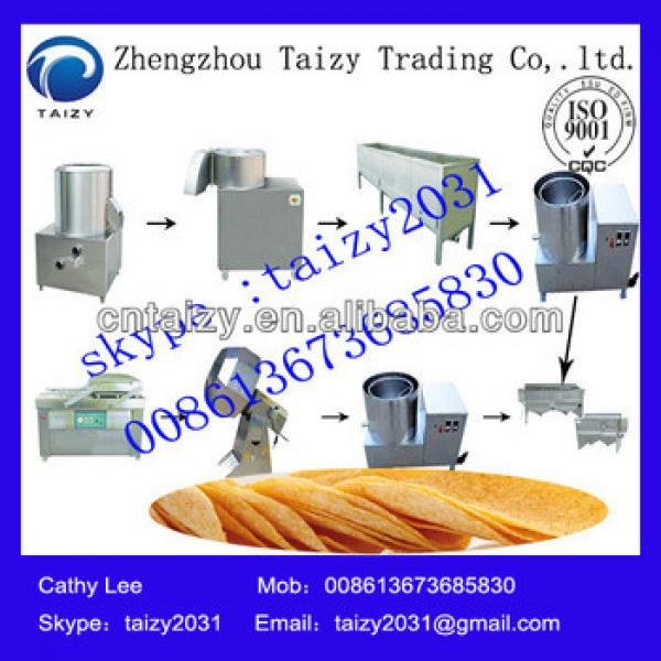 Popular fully automatic potato chips production line potato chips making machine price