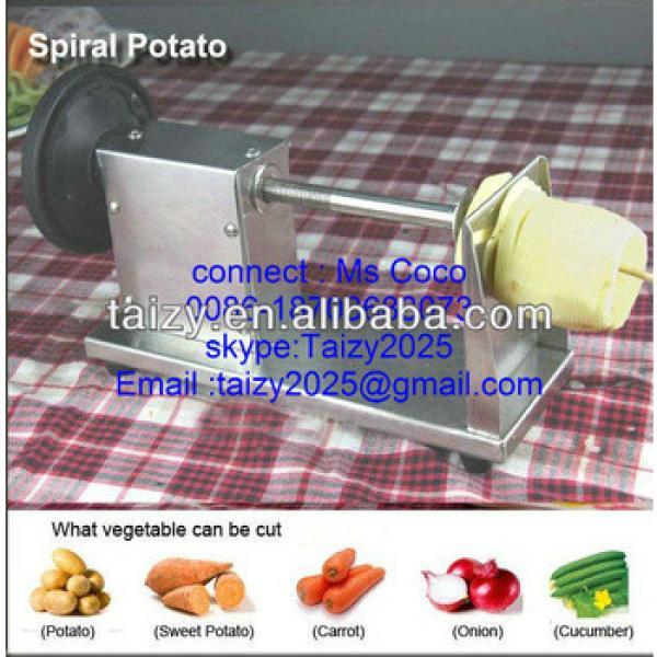 manual Tornado onion Chips Twister machine / potato twister machine / potato chips making machine 0086-18703683073