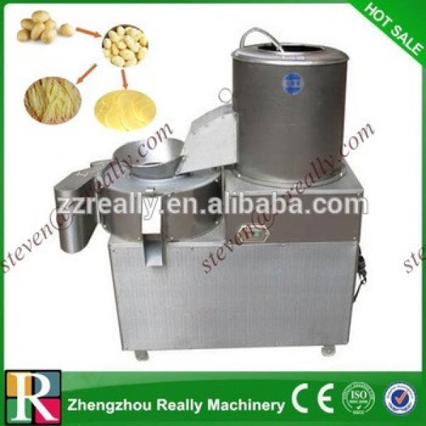 potato chips making machine/potato fries cutting machine/potato peeling cutting machine