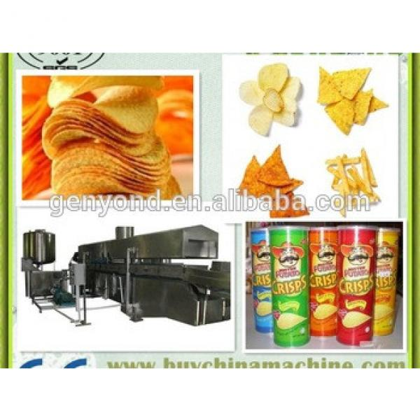 semi-automatic Fresh Potato Chips China Snack Production Machinery/ fresh potato chips making machine