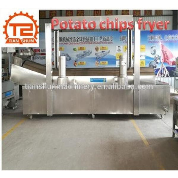 Full automatic fresh electric stainless steel commercial potato chips fryer making machine