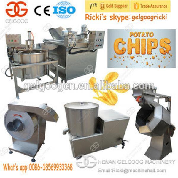 Full Automatic Potato Chips Machines Frozen French Fries Making Machines