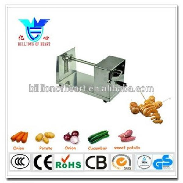 New Arrival Commercial Manual Stainless Steel Tornado Potato Chip Machine,Twisted Potato Slicer