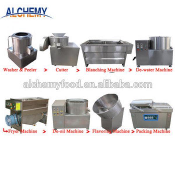 stainless steel potato chips frying machine/potato chips making line
