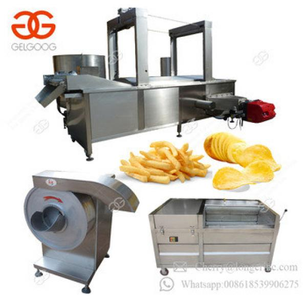 Patato Flakes Finger Chips Equipment Frozen French Fries Production Line Sweet Potato Chips Making Machine With Good Price
