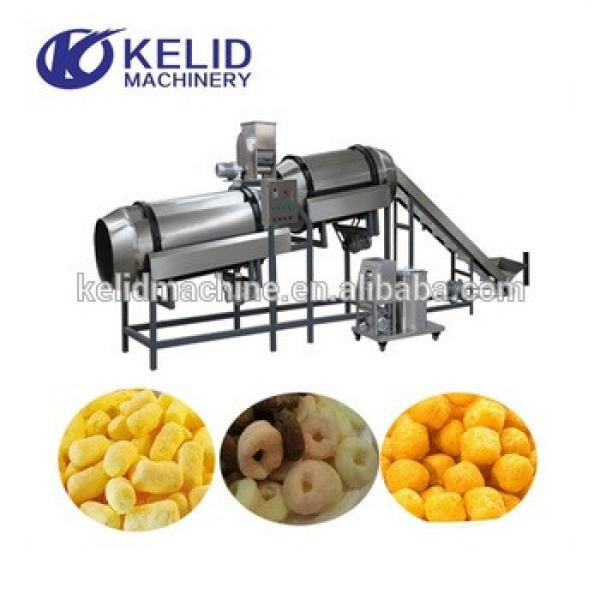 2018 hot sale expanded puffed corn snacks making machine