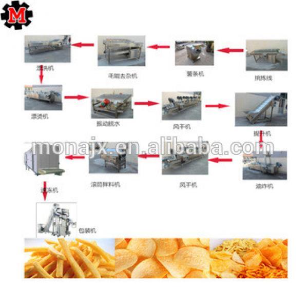 large scale automatic potato chips making machine price/french fries machine