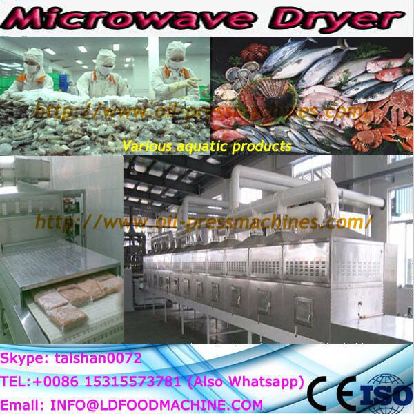Salt microwave rotary drying machine and salt dryer
